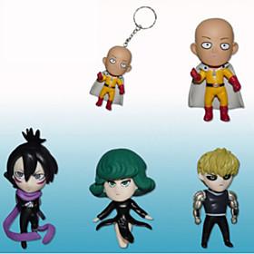 One Punch Man Saitama PVC 7cm Anime Action Figures Model Toys 1set 5492049