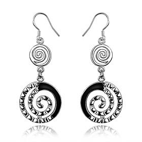 Women's Geometric Drop Earrings Hoop Earrings - Sterling Silver Silver For Wedding Party Daily