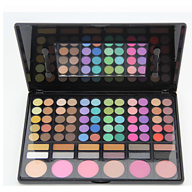 78PCS/SETS Eyeshadow Palette Eyeshadow palette Powder NormalDaily Makeup Halloween Makeup Party Makeup Fairy Makeup Cateye Makeup Smokey 5493473