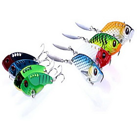 8 pcs VIB Hard Bait Fishing Lures Hard Bait Random Colors Hard Plastic Sea Fishing 5482076