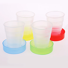Verres  Tasses Pour Usage Quotidien Creative Candy Colors Travel Portable Folding Cup Random Color Plastique, -  Haute qualité 5113043