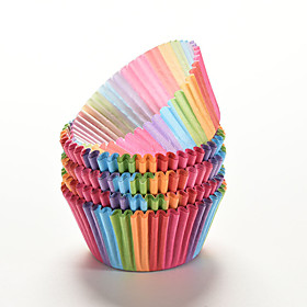 100 Pcs Rainbow Color  Cupcake Liner Baking Cup Cupcake Paper Muffin Cases Cake Box Cup Tray Cake Mold Decorating Tools 5468860