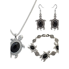 Women's Jewelry Set - Resin Turtle, Animal European, Fashion Include Black / Red / Green For Party Daily