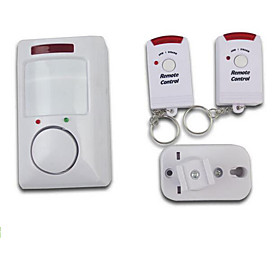 Wireless Infrared Motion Detecting Alarm System with Two Remote Controls for Home Security 2910748