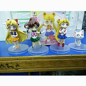 Sailor Moon Sailor Moon PVC 7cm Anime Action Figures Model Toys Doll Toy 1set 5492076
