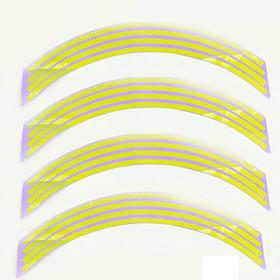 Fashion Reflective Rim Stripe Tape Bike Motorcycle Polyethylene Terephthalate Wheel Sticker Car Accessories 4643978