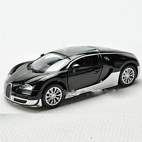 Action Figure Model  Building Toy Car Metal Black / White / Orange For Boys Above 3 5328338