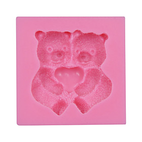 Valentine's Gift Cute Bear Fondant Silicone Mold Cake Chocolate Candy Bakeware SM-030 4741873