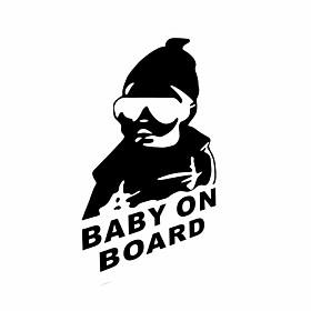 Funny Baby on Board Car Sticker Car Window Wall Decal Car Styling 4548005