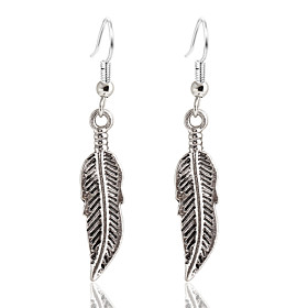 Women's Drop Earrings - Silver Plated, Gold Plated Leaf Simple Style Gold / Silver For Party Daily
