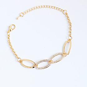 Women's Chain Bracelet Tennis Bracelet Alloy Rhinestone Simulated Diamond Personalized Irregular Rose Gold Jewelry 1pc