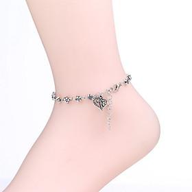 donne 'cuore d'argento a piedi nudi sandali 1pc 5524977