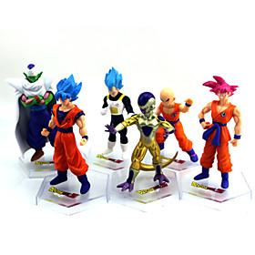 Anime Action Figures Inspireret af Dragon Ball Goku Anime Cosplay Tilbehør figur Gyldent PVC 5510474