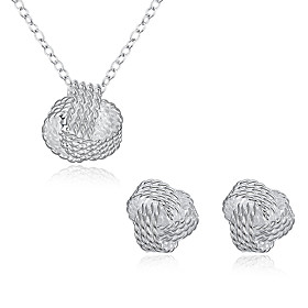Women's Cubic Zirconia Jewelry Set - Cubic Zirconia, Silver Plated Include Silver For Party Daily