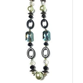 Necklace Imitation Sapphire Imitation Pearl Rhinestone Chain Necklaces Jewelry Party Daily Casual Euramerican FashionAlloy Imitation 5520734