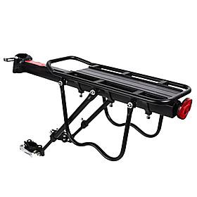 Bike Cargo Rack Rear Rack Max Load 50 kg Adjustable Easy to Install Aluminium Alloy Mountain Bike / MTB - Black