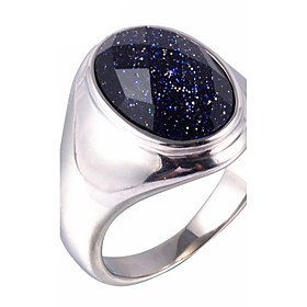 Men's Statement Ring Ring Signet Ring Titanium Steel Galaxy Vintage Fashion Ring Jewelry Black For Daily Casual 7 / 8 / 9 / 10 / 11