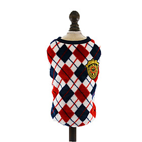 Dog Vest Red Dog Clothes Winter Spring/Fall British Cute Casual/Daily 5520313