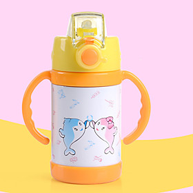 High Quality Kids Water Bottle Thermos Mug Lovely Stainless Steel Vacuum Cup For Kids With Straw 260Ml 5576407