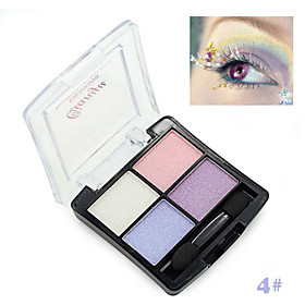 1Pcs Professional 4 Colors Fashion Glitter Eyeshadow Palette Natural Cosmetics Naked Makeup Shining Eye Shadow With Brush 5547049