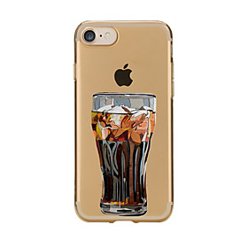 For Transparent Pattern Case Back Cover Case Cartoon Glass Soft TPU for IPhone 7 7Plus iPhone 6s 6 Plus iPhone 6s 6 iPhone 5s 5 5E 5C 5546166