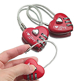 Luggage Lock / Padlock / Coded Lock 3 Digit Luggage Accessory / Coded lock / Anti-theft For Luggage Plastic / Canvas / Metal