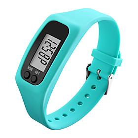 Men's Women's Sport Watch Wrist Watch Digital Watch Digital Rubber Black / White / Blue Pedometers LCD Cool Digital Red Green Blue / Colorful