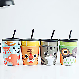 Novelty Cartoon Drinkware 680 ml Portable Leak-proof Earthenware Juice Water Tumbler 5559346