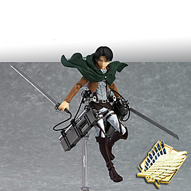 Anime Action Figures Inspired by Attack on Titan Mikasa Ackermann PVC 14 CM Model Toys Doll Toy 5549608