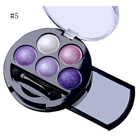 5 Colors Professional Shimmer Natural Eyes Makeup Pigment Eyeshadow Palette Metallic Nude Eye Shadow Powder Palette Maquiagem 5545011