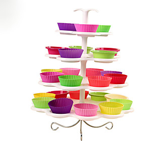 New Cupcake Stand Tree Holder Muffin Serving Birthday Cake 23 Cup Party 4 Tier 5549319