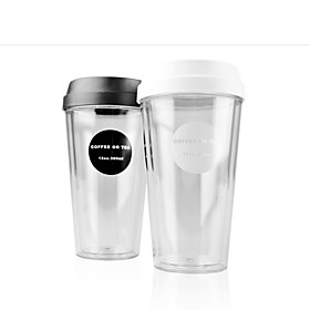 Transparent Classic To-Go Drinkware, 420 ml Portable BPA Free Plastic Coffee Water Tumbler 5563529