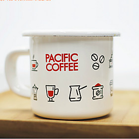 Vintage Drinkware, 150 ml Portable Enamel Coffee Milk Coffee Mug Travel Mugs 5570786