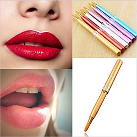 1Pcs Makeup Women Portable Retractable Cosmetic Lip Brush Lipstick Gloss Beauty Color Random 5545002