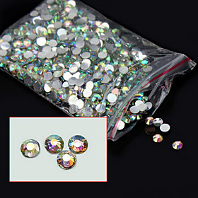1000pcs/pack 4mm New Arrive Glitter Acrylic Nail Art AB Crystal Rhinestone Charm DIY Beauty 3d Nail Decoration Tools 5535630