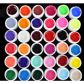 36PCS Mixs Pure Color UV Color Gel(8ml) 1688659