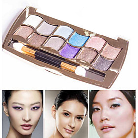 Professional Eye Makeup 12 Colors Eyeshadow Palette Gold Smoky Cosmetics Makeup Palette Diamond Bright Glitter Eye Shadow 5546903