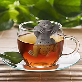 Slow BrewTea Infuser - Cute Sloth Hanging Loose Leaf Silicone Mug Cup Straineg