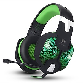 G1000 Stereo Over-ear Gaming Headset Headphones with 7 Colors Breathing LED Light With Microphone For Mac PC Computer 3204