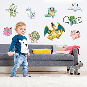Creative Pocket Monster Family Wall Stickers Fashion Removable Wall Decals Home And Garden 5558978