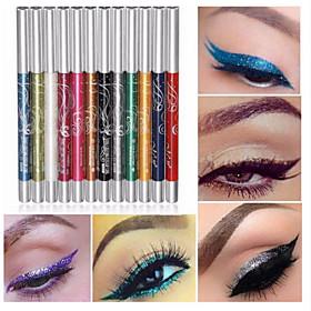 12 Colors Eyeshadow Eyebrow Pencil Eyeshadow Crayon Professional Glitter Shine Fashion 12 pcs Makeup Cosmetic Daily Makeup Halloween Makeup Party Makeup Long L