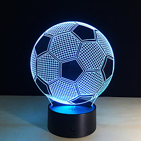 New Creative Football Shape 3D Illusion Night Light 7Colors Changeable For Bedroom Decoration 5559875