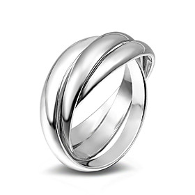 Women's Band Ring Ring Alloy Ladies Fashion Ring Jewelry Silver For Wedding Party Special Occasion Daily Casual Masquerade 6 / 7 / 8 / 9