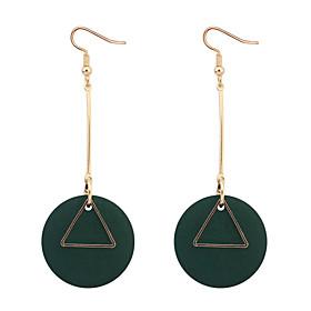 Women's Drop Earrings Hoop Earrings - Cross European, Simple Style, Fashion Black / Red / Green For Daily