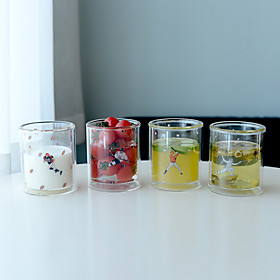 Transparent Cartoon Drinkware, 310 ml BPA Free Double Wall Glass Tea Coffee Tea Cup 5567116