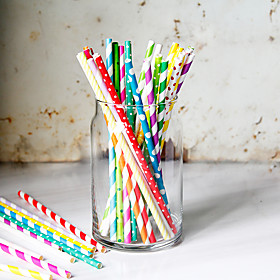 Colored Assorted Party Drinkware  Disposable Paper Juice Carbonated Beverage Straws 5629714