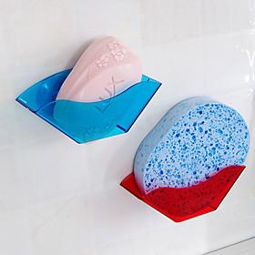 Double Suction Cup Rack Shelf Sponge Sink Clean Ball Drop Color Random 5608970