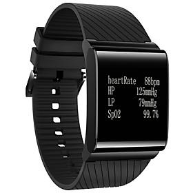 Women's Men's Bluetooth 4.0 Smart Watch Heart Rate/Blood Pressure/Emotional Status/Fatigue Level Monitor Fitness Wristband Sports Bracelet 5927002