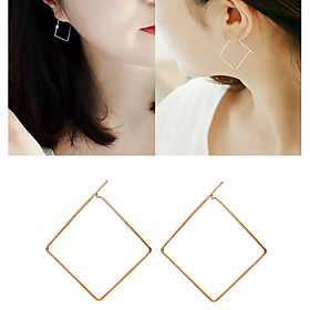 Women's Drop Earrings Hoop Earrings Earrings Ladies Jewelry Gold / Black / Silver For Wedding Party Daily Casual 1pc