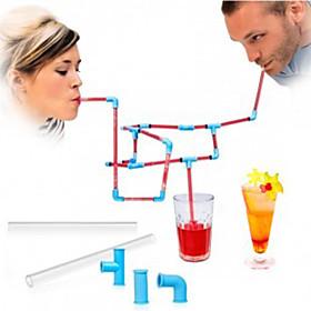 Novelty Drinkware, # ml Reusable Plastic Juice Water Straws 5629716